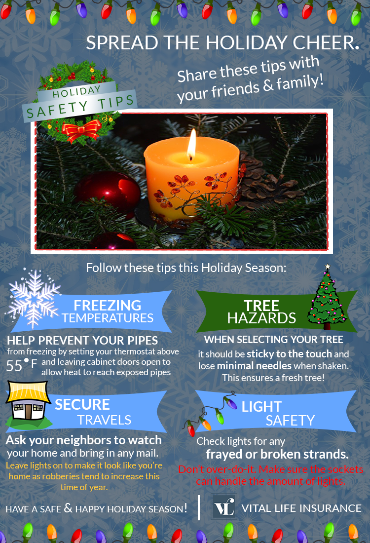 Safety tips for the holiday season.